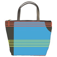 Sketches Tone Red Yellow Blue Black Musical Scale Bucket Bags
