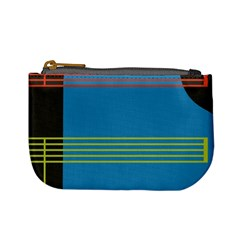Sketches Tone Red Yellow Blue Black Musical Scale Mini Coin Purses