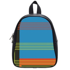 Sketches Tone Red Yellow Blue Black Musical Scale School Bags (Small)