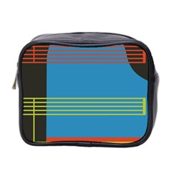Sketches Tone Red Yellow Blue Black Musical Scale Mini Toiletries Bag 2-Side