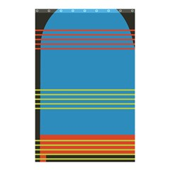 Sketches Tone Red Yellow Blue Black Musical Scale Shower Curtain 48  x 72  (Small)