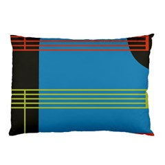 Sketches Tone Red Yellow Blue Black Musical Scale Pillow Case (Two Sides)