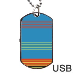Sketches Tone Red Yellow Blue Black Musical Scale Dog Tag USB Flash (One Side)