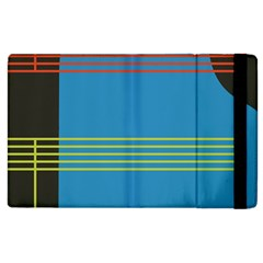 Sketches Tone Red Yellow Blue Black Musical Scale Apple iPad 3/4 Flip Case