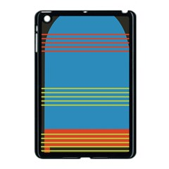 Sketches Tone Red Yellow Blue Black Musical Scale Apple iPad Mini Case (Black)