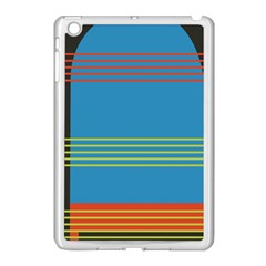 Sketches Tone Red Yellow Blue Black Musical Scale Apple iPad Mini Case (White)