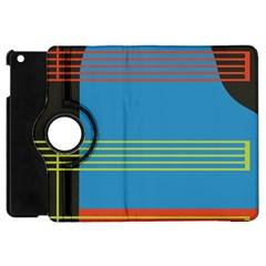 Sketches Tone Red Yellow Blue Black Musical Scale Apple iPad Mini Flip 360 Case