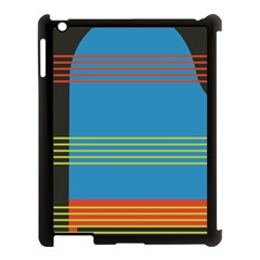 Sketches Tone Red Yellow Blue Black Musical Scale Apple iPad 3/4 Case (Black)
