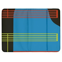 Sketches Tone Red Yellow Blue Black Musical Scale Samsung Galaxy Tab 7  P1000 Flip Case