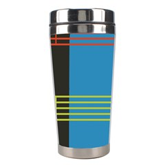 Sketches Tone Red Yellow Blue Black Musical Scale Stainless Steel Travel Tumblers