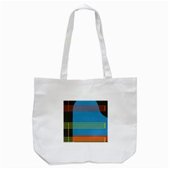Sketches Tone Red Yellow Blue Black Musical Scale Tote Bag (White)