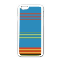 Sketches Tone Red Yellow Blue Black Musical Scale Apple iPhone 6/6S White Enamel Case