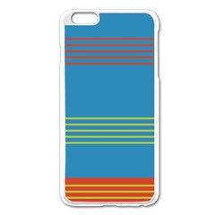Sketches Tone Red Yellow Blue Black Musical Scale Apple iPhone 6 Plus/6S Plus Enamel White Case