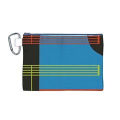 Sketches Tone Red Yellow Blue Black Musical Scale Canvas Cosmetic Bag (M)