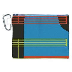 Sketches Tone Red Yellow Blue Black Musical Scale Canvas Cosmetic Bag (XXL)