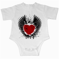 Wings Of Heart Illustration Infant Creepers