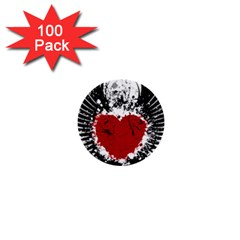 Wings Of Heart Illustration 1  Mini Buttons (100 pack)
