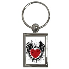 Wings Of Heart Illustration Key Chains (Rectangle)
