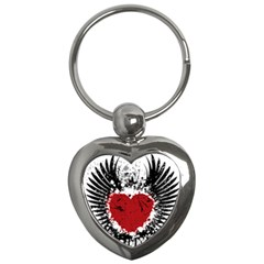 Wings Of Heart Illustration Key Chains (Heart)