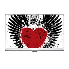 Wings Of Heart Illustration Business Card Holders