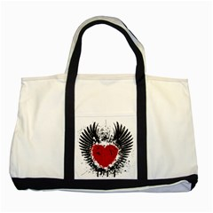 Wings Of Heart Illustration Two Tone Tote Bag
