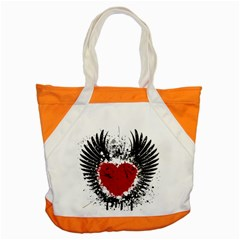 Wings Of Heart Illustration Accent Tote Bag