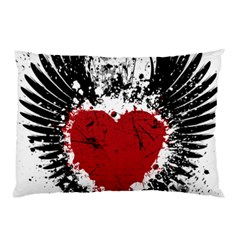 Wings Of Heart Illustration Pillow Case
