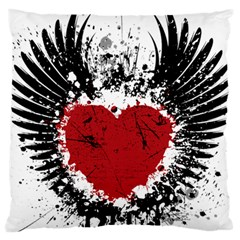 Wings Of Heart Illustration Large Cushion Case (One Side)