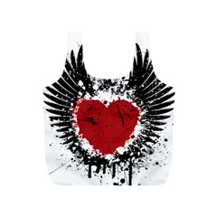 Wings Of Heart Illustration Full Print Recycle Bags (S)