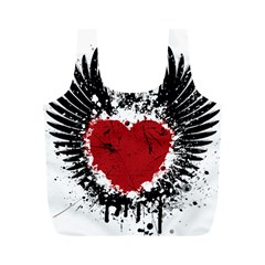 Wings Of Heart Illustration Full Print Recycle Bags (M)