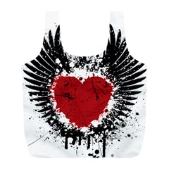Wings Of Heart Illustration Full Print Recycle Bags (L)