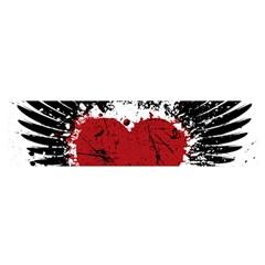 Wings Of Heart Illustration Satin Scarf (Oblong)