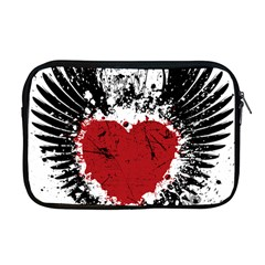 Wings Of Heart Illustration Apple Macbook Pro 17  Zipper Case