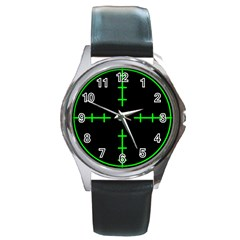 Sniper Focus Round Metal Watch