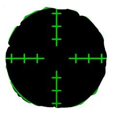 Sniper Focus Large 18  Premium Round Cushions