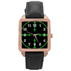 Sniper Focus Rose Gold Leather Watch