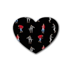 Drake Hotline Bling Black Background Heart Coaster (4 pack)