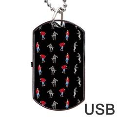 Drake Hotline Bling Black Background Dog Tag USB Flash (One Side)