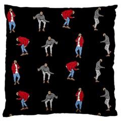 Drake Hotline Bling Black Background Large Flano Cushion Case (Two Sides)