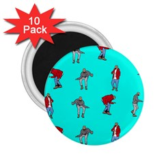 Hotline Bling Blue Background 2.25  Magnets (10 pack)