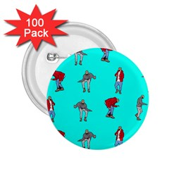 Hotline Bling Blue Background 2 25  Buttons (100 Pack)