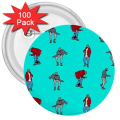 Hotline Bling Blue Background 3  Buttons (100 pack)