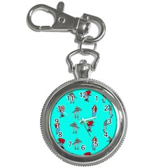 Hotline Bling Blue Background Key Chain Watches