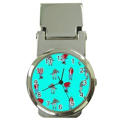 Hotline Bling Blue Background Money Clip Watches