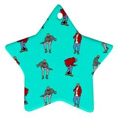 Hotline Bling Blue Background Star Ornament (Two Sides)