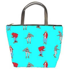 Hotline Bling Blue Background Bucket Bags
