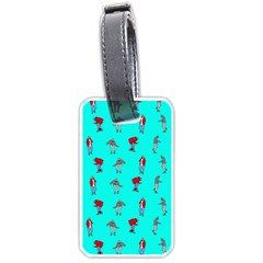 Hotline Bling Blue Background Luggage Tags (One Side)