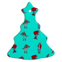 Hotline Bling Blue Background Christmas Tree Ornament (Two Sides)
