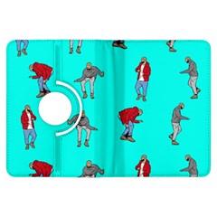 Hotline Bling Blue Background Kindle Fire Hdx Flip 360 Case