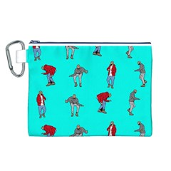Hotline Bling Blue Background Canvas Cosmetic Bag (L)